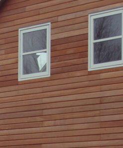 Halfhout rabat Aziatisch Red Cedar gevelbekleding