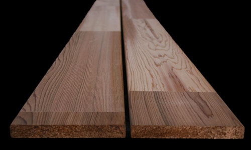 Western Red Cedar FJ 18x140 plank voorbeeld