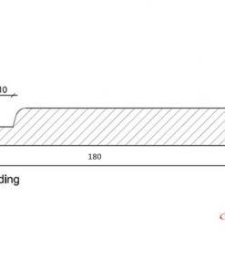 Channelsiding 18x180