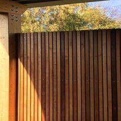 Western Red Cedar No.2 Clear and Better open gevelsysteem afscherming