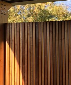 Western Red Cedar No.2 Clear and Better open gevelsysteem afscherming