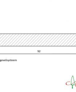 Western Red Cedar Open gevelsysteem 18x92 gevelbekleding
